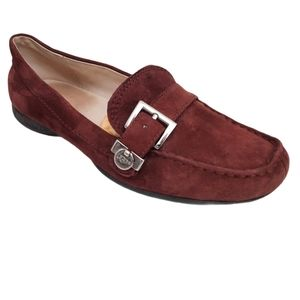 UGG Crawford Suede Buckle Flats Loafers Moccasins